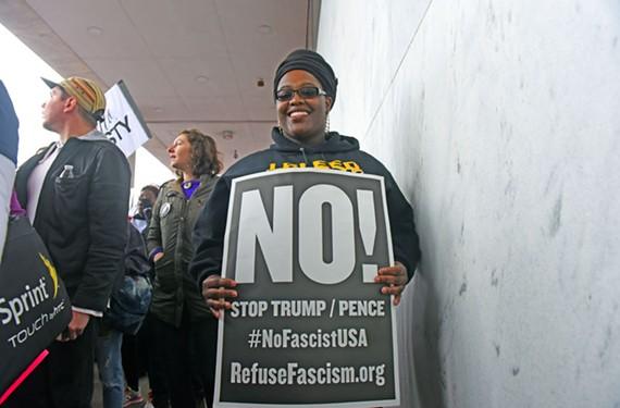 Sinquiss Anderson wore her Virginia Commonwealth University sweatshirt to the Women's March on Washington - SCOTT ELMQUIST