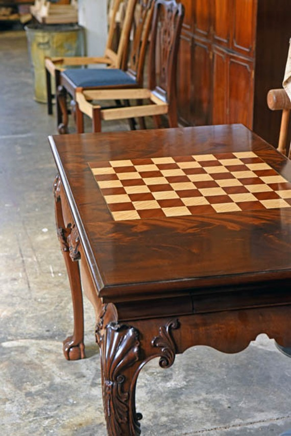 An Irish design inspired chess table. - SCOTT ELMQUIST