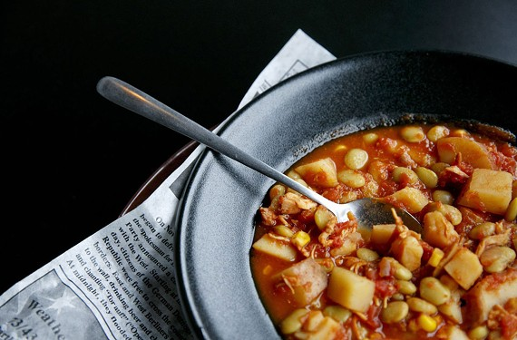 A Virginia staple, the Brunswick stew at Twisted Pig is also served with ham biscuits. - KRISTEN ZEIS