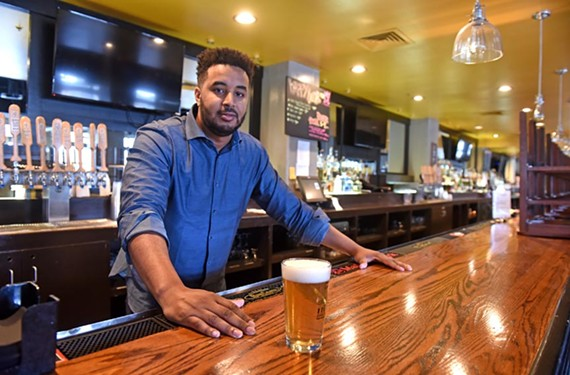 Owner Michael Abdelmagid brews 7 Hills Seafood and Brewing Co.'s beer on site. - SCOTT ELMQUIST