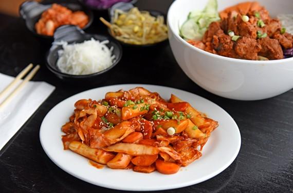 Flavor bombs such as JKogi's thubokki, full of rice and fish cakes, showcase Richmond's new love affair with Korean cuisine. - SCOTT ELMQUIST