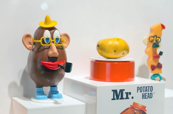 A latter-day Mr. Potato Head stands beside his original namesake. - VIRGINIA HISTORICAL SOCIETY