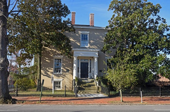Ellen Glasgow wrote prolifically in an upstairs study at her family home at 1 W. Main St. She also entertained guests frequently in its double parlors, including her fiance, Henry Anderson. - SCOTT ELMQUIST