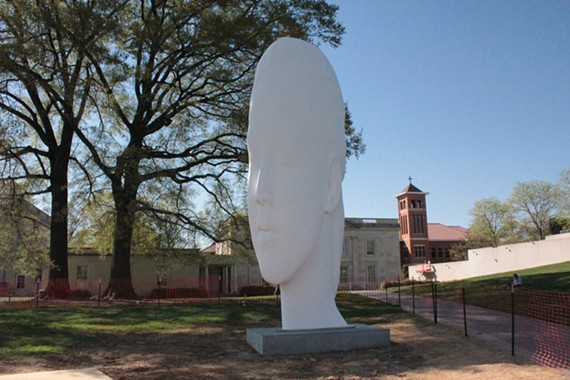 """Chloe"" by Catalan artist Jaume Plensa. The work represents the second piece in the VMFA's outdoor commissioning strategy."