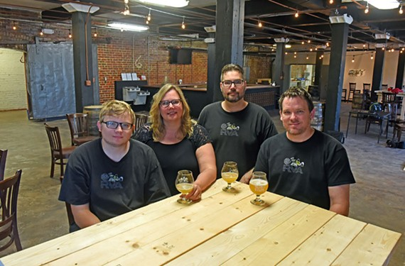Twisted Ales Craft Brewing is a family affair: Son Ryan Price, his mother Debbi, her brother Larry Sherman and Ryan's father, Jason, all work to together to make the brewery hum. - SCOTT ELMQUIST