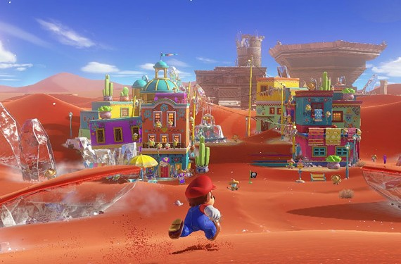 """Coins, jumping, powerups and color. """"Mario Odyssey"""" looks stuffed to the gills with charm. - NINTENDO"""