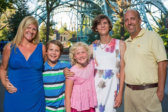 """Kate, Forde, Caroline, Piper and Travis Hall of Henrico County. """"Our oldest came out to us as transgender in 2015,"""" says Kate Hall, at left. """"Now, we have two daughters and a son, but we're essentially the same family — except that maybe with our hearts opened a bit wider."""""""
