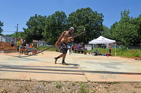 Bernie McGrew is vice president for the Richmond Area Skateboard Alliance. He and several others are donating their labor to Texas Beach Skate Park. - SCOTT ELMQUIST