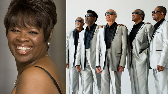 New Orleans soul queen, Irma Thomas, and the Blind Boys of Alabama.