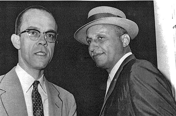 Civil rights lawyers Spottswood Robinson, left, and Oliver Hill.
