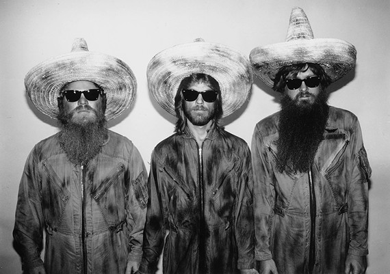 The three sombreros of ZZ Top.