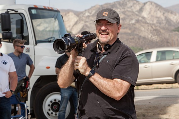 """Director and actor John C. Lynch on the set of """"Lucky."""""""