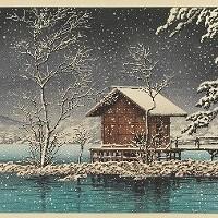 日本的寺庙和神社:河西的木刻版画