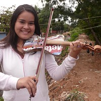 """Players from the viral documentary """"Landfill Harmonic,"""" about recycled music instruments, come to the Steward School"""
