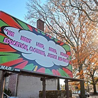 1708 Gallery sponsors a billboard in Jackson Ward as part of a national project