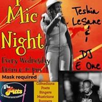 与Teshia LeSane和DJ E ONE的开麦之夜