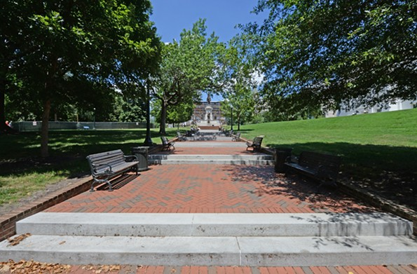 The stepped walkway in Capitol Square was designed by Godefroy in 1817. - SCOTT ELMQUIST