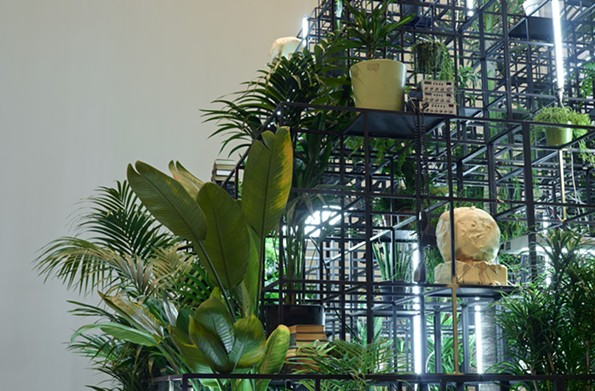 A detail from Chicago-based artist Rashid Johnson from a former site-specific installation in Paris.