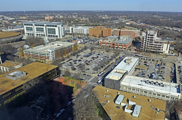 The chairman, president and chief executive of Dominion Energy, Thomas F. Farrell II, leads a nonprofit development group that has been pitching the redevelopment of a 10-block area of downtown that includes the Richmond Coliseum. - SCOTT ELMQUIST