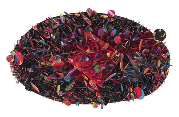 """Untitled #5B (Krakatoa)"" by Howardena Pindell"