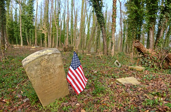 The grave of George Washington Turner is in a cleared section of East End Cemetery. - SCOTT ELMQUIST