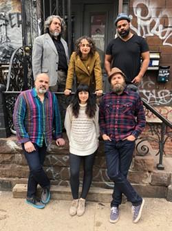 Miramar poses in front of Daptone Studios in Brooklyn.