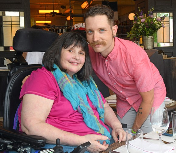 Tyndall is shown here with his mother, Lisa Sheffield, who was severely injured by a drunken driver about 15 years ago. - SCOTT ELMQUIST