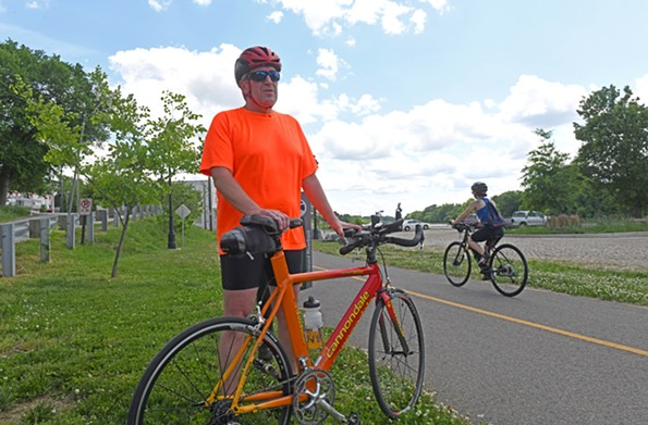 Kevin Melton, who's been pedaling around the area for years, says the Capital Trail has been a game changer for the cycling community. - SCOTT ELMQUIST