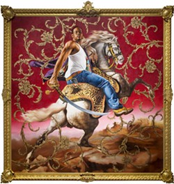Officer of the Hussars © 2007 Kehinde Wiley - COURTESY OF DETROIT INSTITUTE OF ARTS