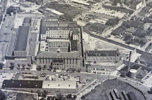 This 1971 aerial photo is of the Virginia State Penitentiary, which was the second major construction project undertaken by Virginia after the State Capitol.