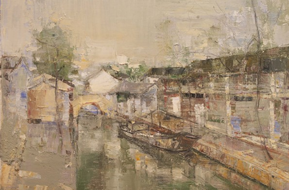"""""""The Dream,"""" a painting by Liehong Peng that will be a part of this year's Current Art Fair, which is being taken over by Jennifer Glave and B.J. Kocen of Glave Kocen Gallery."""