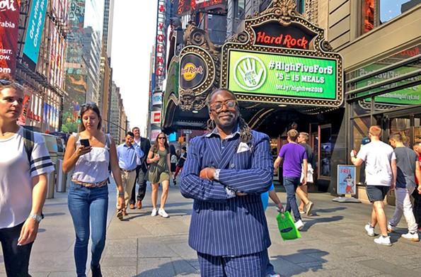 Richmond artist Sir James Thornhill in Times Square. - SCOTT ELMQUIST