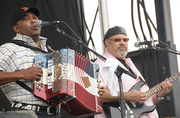 Jeffrey Broussard and the Creole Cowboys get the crowd moving its feet in 2009. - SCOTT ELMQUIST/FILE