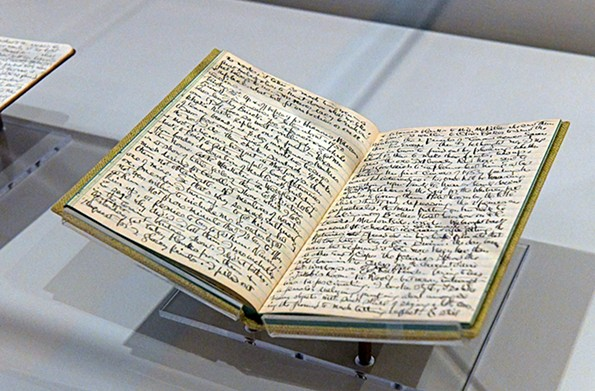 An image of the travel journals kept by Hopper's wife, Jo. - SCOTT ELMQUIST