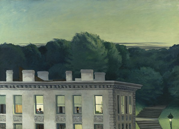 """""""House at Dusk"""" (1935) was purchased by the museum for $4,000 in 1953. - VIRGINIA MUSEUM OF FINE ARTS"""