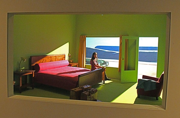A view through the window of writer Amanda Dalla Villa Adams in her overnight accommodations at VMFA. - SCOTT ELMQUIST