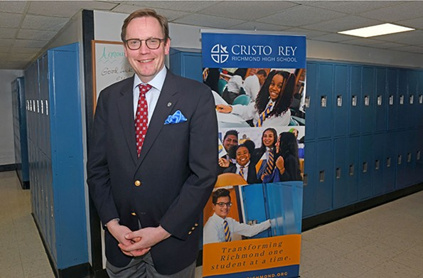 Peter McCourt, president of Cristo Rey Richmond High School, is an ordained deacon who taught religious studies at Virginia Tech and Virginia Commonwealth University. - SCOTT ELMQUIST