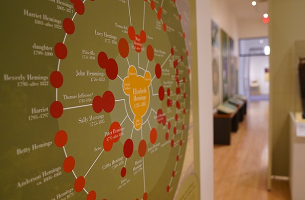 """Peter Hemings on the Hemings family tree from the traveling exhibition """"Paradox of Liberty: Slavery at Jefferson's Monticello,"""" on display at the Black History Museum & Cultural Center until April 18. - BLACK HISTORY MUSEUM AND CULTURAL CENTER OF VIRGINI"""