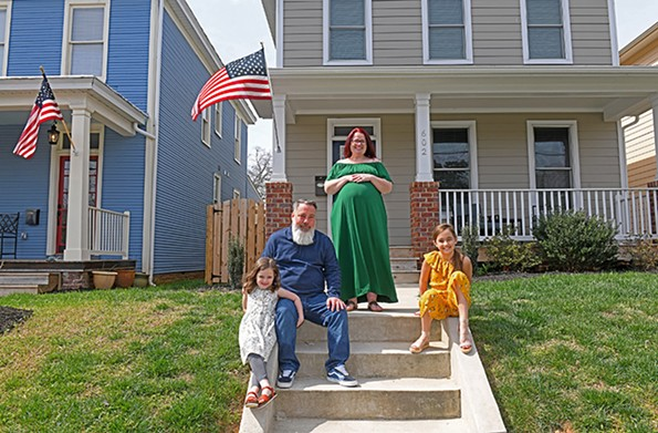Loftan Miller Hooker and her husband, Randy, with daughters Olive and Virginia, are expecting a third daughter this summer. - SCOTT ELMQUIST