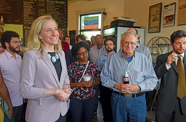 U.S. Rep. Abigail Spanberger, seen here at Brewer's Café in Manchester at an Urban League meet and greetin 2018, has been very vocal about the tweaks she thinks current guidelines need. - SCOTT ELMQUIST/FILE
