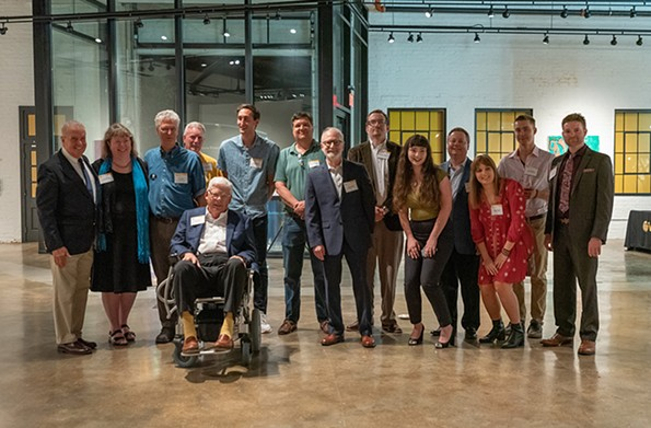 In September, Bill and Pam Royall held a 50th anniversary party for The Commonwealth Times at their Try-Me art gallery. The current and former editors in attendance are pictured here. - JUD FROELICH, VCU DEVELOPMENT AND ALUMNI RELATIONS