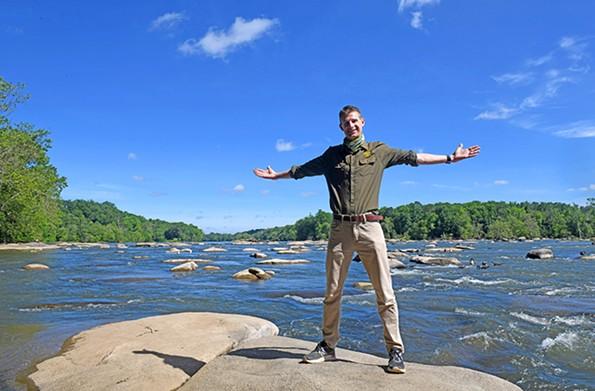 James River Park Superintendent Bryce Wilk. - SCOTT ELMQUIST