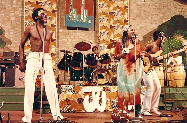 "Branch with his group Oneness of Juju performs at Dogwood Dell in 1988. - COURTESY JAMES ""PLUNKY"" BRANCH"