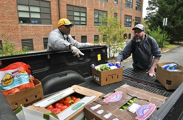 Underground Kitchen founder Micheal Sparks and chef Jason Bullard are working with area churches to provide meals for those who need it most. - SCOTT ELMQUIST/FILE