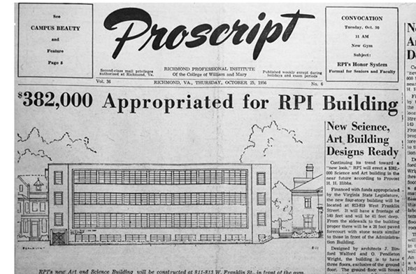 In October 1956, Henry H. Hibbs, founder of Richmond Professional Institute (now VCU), and the Postscript, the student newspaper, announced an expansion of the 1952 gymnasium. - VCU LIBRARIES