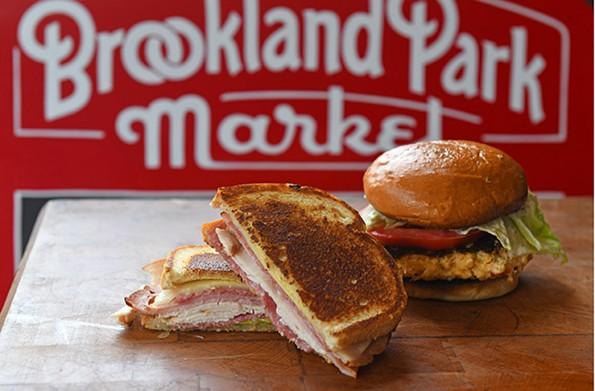 The Brookland Park Market's crabcake and market sandwiches. - SCOTT ELMQUIST
