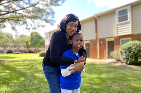 Tonicka Edwards-Booker, a Chesterfieldmother whose 7-year-old son,Rashad, has autism. - SCOTT ELMQUIST
