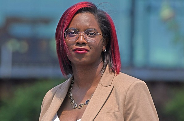 Alexsis Rodgers, state director of Care in Action, emerged as the progressive candidate in the mayoral race. - SCOTT ELMQUIST