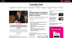 The Lansing Sun is one of the websites launched in Michigan to mimic local news while really offering conservative political messaging.