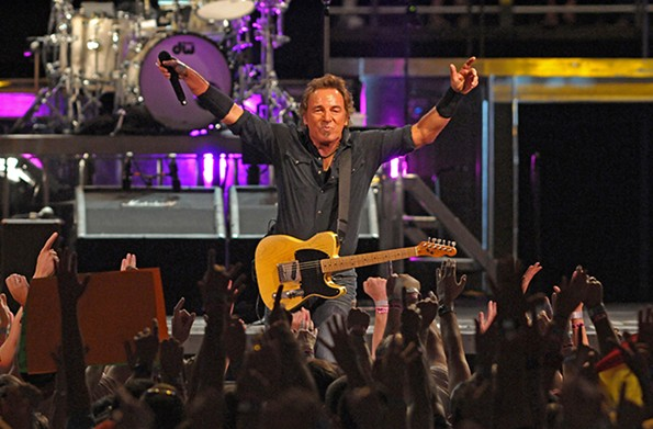 Bruce Springsteen acknowledges fans at an Aug. 18, 2008, concert, one of many he has performed at the Coliseum. - SCOTT ELMQUIST/FILE